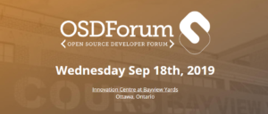 Open Source Development Forum - Wed. 18-September @ Innovation Centre at Bayview yards | Ottawa | Ontario | Canada
