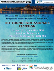 IEEE Young Professional Reception at the 2019 WiSEE Conference @ Sidedoor Restaurent | Ottawa | Ontario | Canada