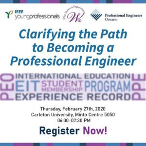 Clarifying the Path to becoming a P.Eng. with Representatives from Professional Engineers Ontario