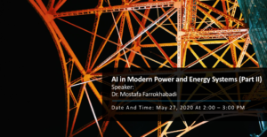 Online Talk: AI in Modern Power and Energy Systems (Part II)