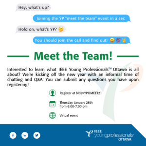 IEEE Ottawa YPAG: Meet the Team @ Online