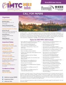 IEEE I2MTC 2022 @ Ottawa, Canada